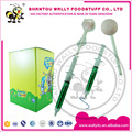 Injection pen with strawberry flavour compressed lollipop