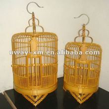 Outdoor hanging bamboo bird cage