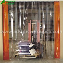Clear plastic curtain for garage