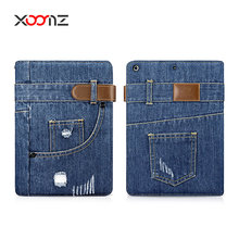 XOOMZ Fashion Jean Wallet Folio Case for iPad pro 12.9,Wallet case,jean case
