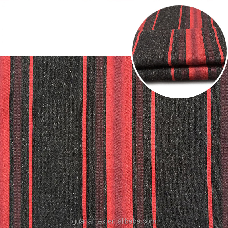 100% polyester big stripes upholstery fabric for sofa and cushion cover