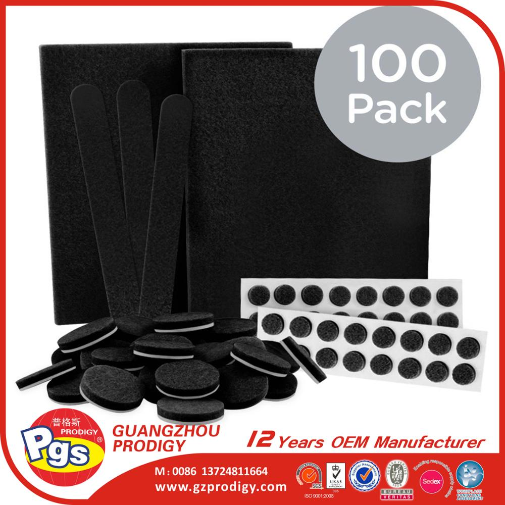 2017 Amazon hot products adhesive scratch-resistant felt furniture pads