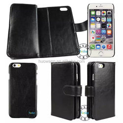 New arrival PU leather Flip Detachable Wallet Case with Credit Card Slot Holder for Apple iPhone 6/6s