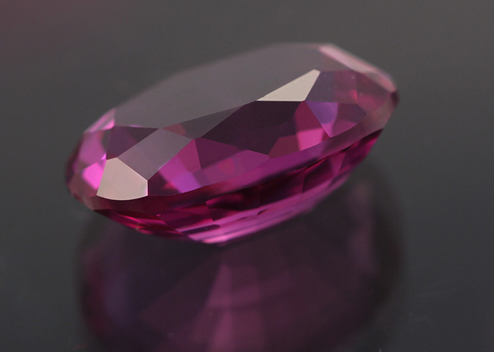 Lab Created Oval Faceted Checker Purple Sapphire