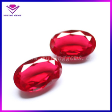 10*12mm Ruby5# Oval Faceted Cut Synthetic Ruby Gems
