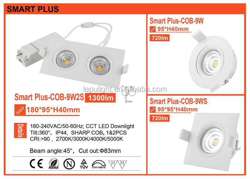 Hot sale GYRO downlight dimmable led downlight Aetec Driver 5 years Warranty