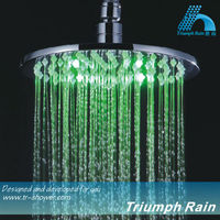 JFQ042CP round rainfall color change LED shower heads