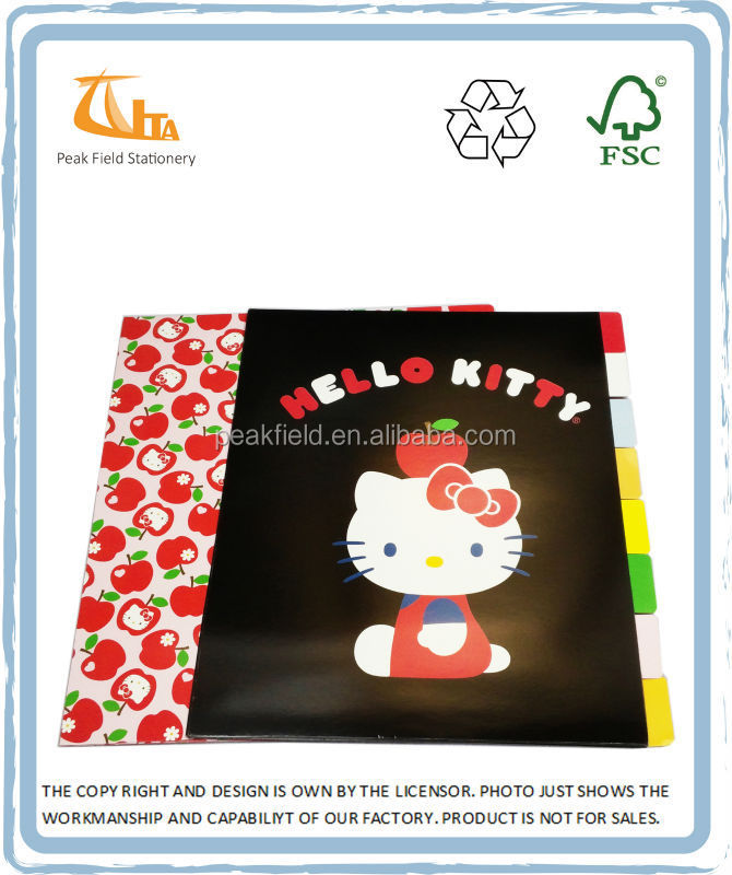 Cartoon Cover Paper Card index file dividers