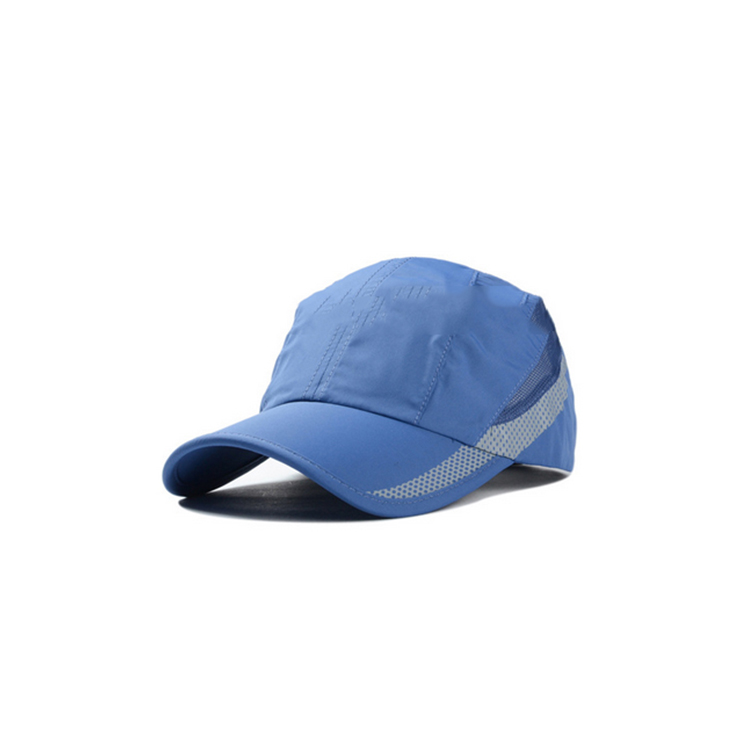 Cheap custom promotion new fashion quick dry mesh trucker baseball caps with reflective tape