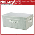 NAHAM High Quality Folding Fabric Cloth Storage Box with Lid