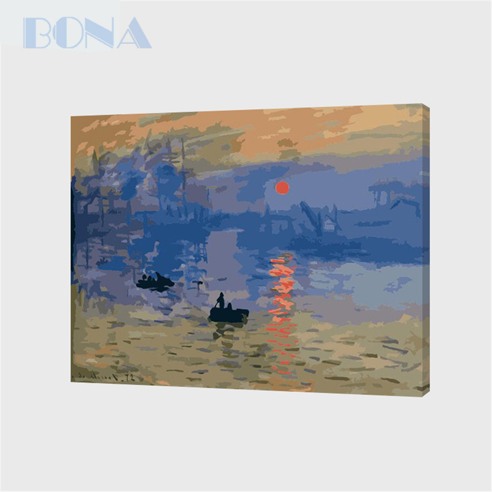 Bona Acrylic Painting By Numbers Unique Gift Coloring By Numbers Sunrise