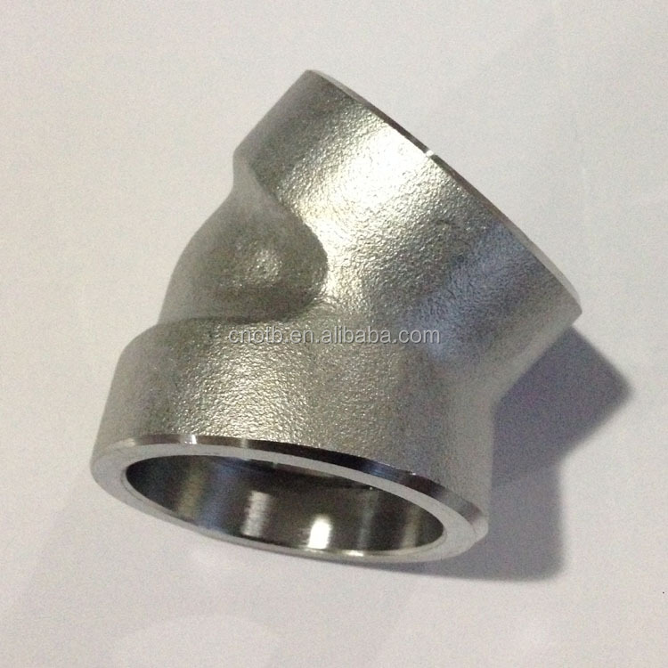 45degree elbow cl3000 forged socket weld pipe fitting
