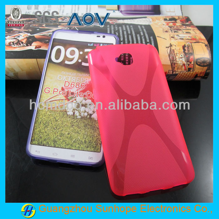 X pattern for LG D686 G Pro Lite Dual Back Cover