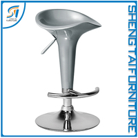 Adjustable ABS bar stool with half round foot rest salon bar stool chair ST8002-1