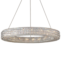 American loft industrial classic Contemporary Square circle K9 Crystal LED Chandelier pendant Lamp Lighting Fixture for project