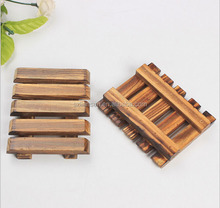 LIANSEN Carbonized Wooden Soap Holder Dishes