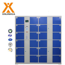 Custom made high quality blue 24 doors steel luggage storage coin electric locker