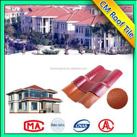 High End China Made Corrugated Synthetic Resin Roof Tile Ridge Cap
