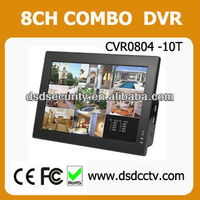 8CH 10 Inches LCD Combo Standalone H.264 DVR CVR0804-10T
