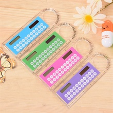 Student Fashion Portable Arithmetic Multi Function 10 CM Ruler Calculator