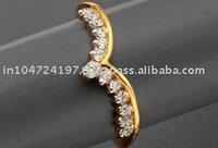 Bird shape Gold ring studded with Diamonds