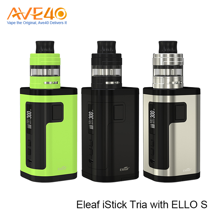Authentic and Fastshipping Eleaf iStick Tria with ELLO S 300W VS Eleaf istick pico 25