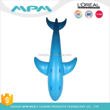 ICTI PVC inflatable fish whale shaped lifelike ride on floating pool toys