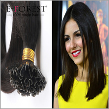 Wholesale Price Brazilian virgin hair Remy Keratin Nail Tip U tip Human Hair Extensions Straight 1g/s 100s