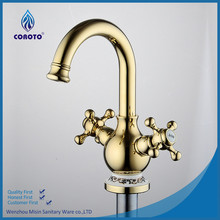 Antique brass rose color 3 way kitchen faucet