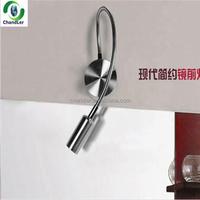 High power flexible 1w/3W led wall lamp for hotel/ flexible gooseneck led reading wall lamp