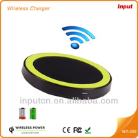 New Round Shape Seven Color Wireless Phone Charger for Samsung iPhone5