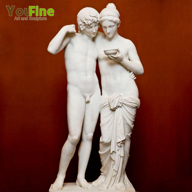 Natural Carved Greek Marble Sculpture Life Size Statue Roman