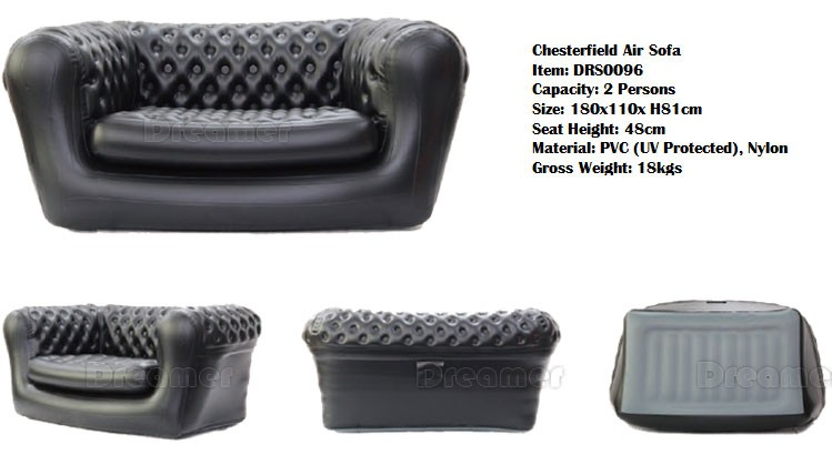 2017 New Design 3 Seater Chesterfield Inflatable Event Sofa Furniture Factory
