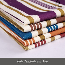 Brief style 100% polyester stripe sofa fabric for chair cover/curtain/sofa set/bags/shoes