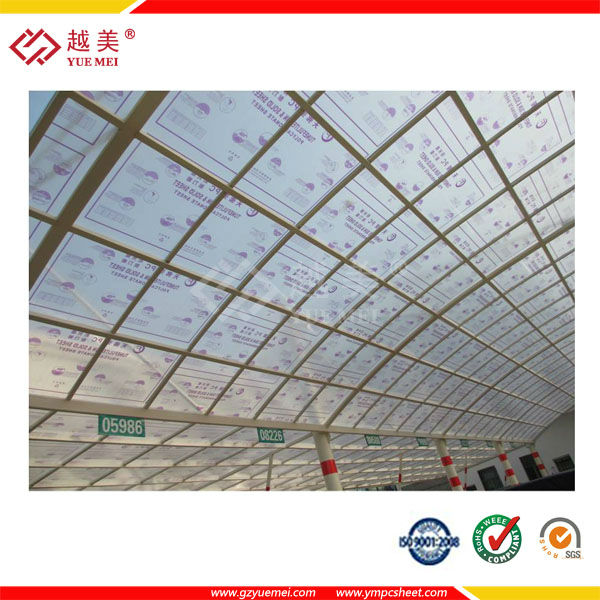 Color Polycarbonate sheet, twin wall PC sheet,roofing material 4mm ...