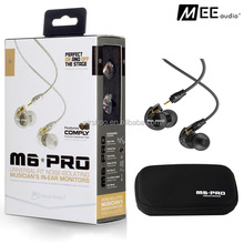 MEE Audio M6 PRO headphone Noise-isolating HiFi In-Ear Monitors Earphones with Detachable headsets