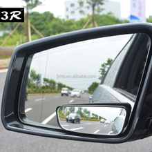 3R 2pcs Compatible adjustable aluminum glass plating car side wide angle blind spot rear view convex mirror adhesive tape