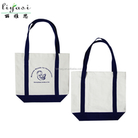 Brand Logo Printed Custom Canvas Beach Bag with Long Handle