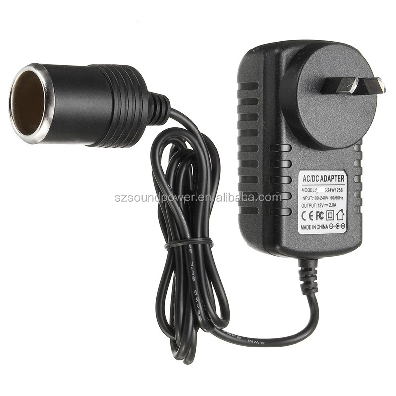 US EU UK Plug 100V-220V AC Power to 48V 0.5A DC Car Cigarette Lighter Socket Adapter Lighting Transformers