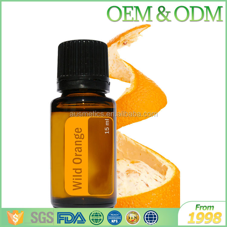 GMP approved 100% pure natural olive oil cosmetic pure orange essential oil