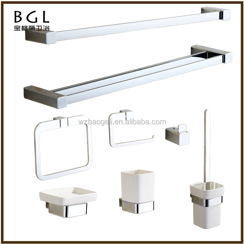 Direct Marketing Factory Hotel decorative Zinc alloy chrome bathroom accessories set