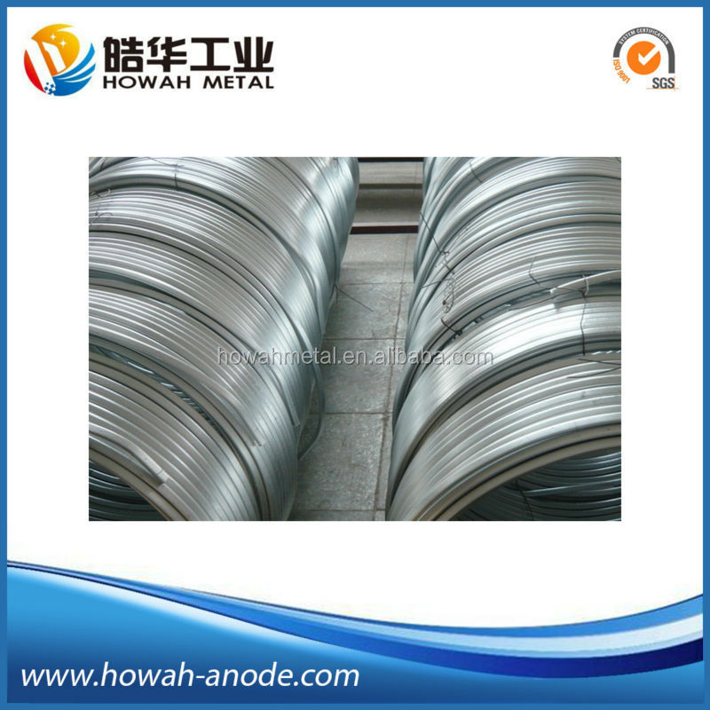 zinc sacrificial cathodic protection ribbon anode for pipeline