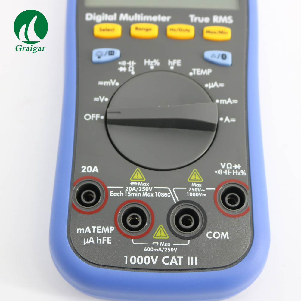 B35T OWON DM Series Digital Multimeter datalogger+multimeter + temperature meter function as 3 in 1,support via smart power-off