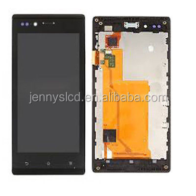 Wholesale mobile phone spare parts For Sony Xperia St26i lcd touch screen