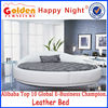 French Alibaba bedroom furniture designs king round bed made in China 6805