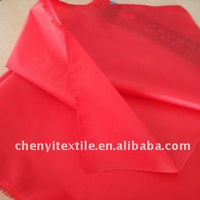 High quality polyester soft taffeta red plaid fabric