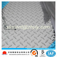 aluminum diamond plate sheets with thickness 0.5mm 1mm in low aluminum price per ton