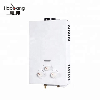 2016 newest flue type gas water heater of low water pressure
