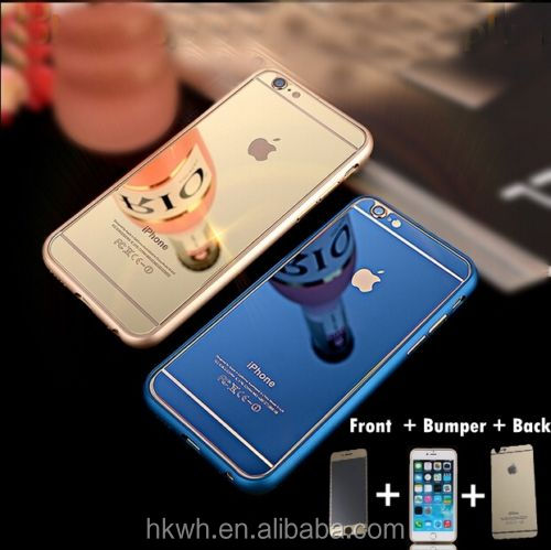 Hot Selling Matel Frame Cover Tempered Glass Screen Protector For iPhone6/6 plus