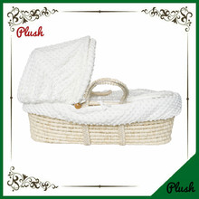 Natural maize peel moses baby basket wholesale